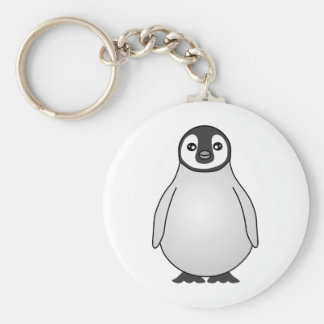 Cute Baby Emperor Penguin Cartoon Keychain