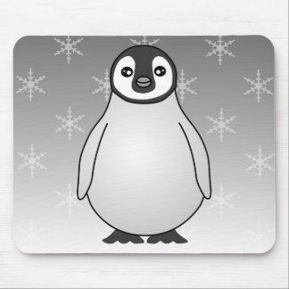 Cute Baby Emperor Penguin Cartoon Mouse Pad