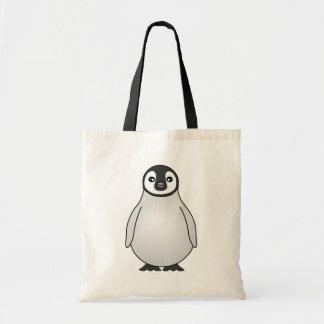 Cute Baby Emperor Penguin Cartoon Tote Bag