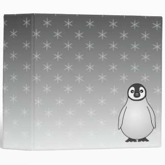 Cute Baby Emperor Penguin Snowflake Custom Binder