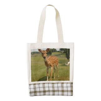Cute Baby Fawn Deer Zazzle HEART Tote Bag