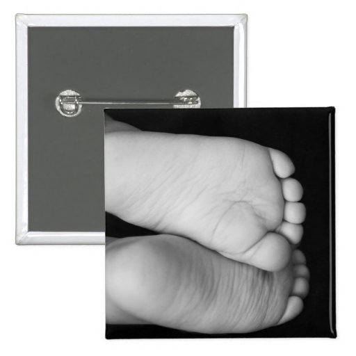 Cute Baby Feet 2 Inch Square Button