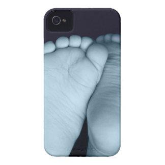 Cute Baby Feet Blue Baby Blackberry Case
