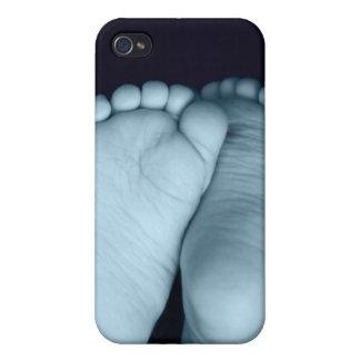 Cute Baby Feet Blue Baby iPhone 4 Case