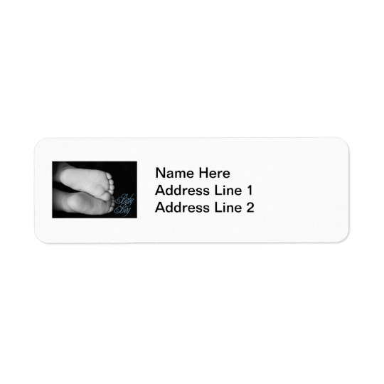 Cute Baby Feet Blue Baby Label