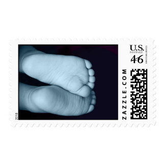 Cute Baby Feet Blue Baby Postage