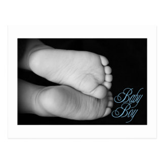 Cute Baby Feet Blue Baby Post Cards