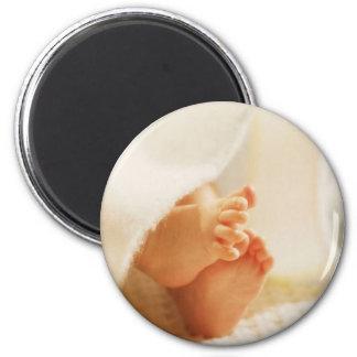 Cute Baby Feet Little Baby Feet Wrapped Blanket Magnet