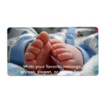 Cute Baby Feet Personalized Shipping Labels