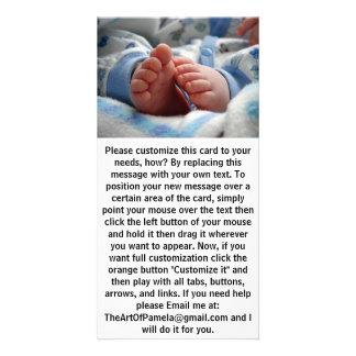 Cute Baby Feet Photo Card