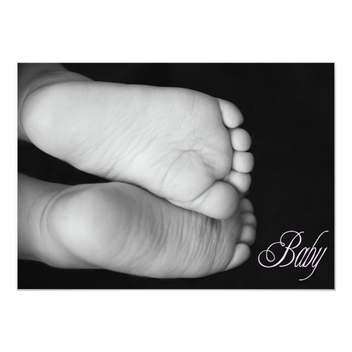 Cute Baby Feet Pink Baby Card