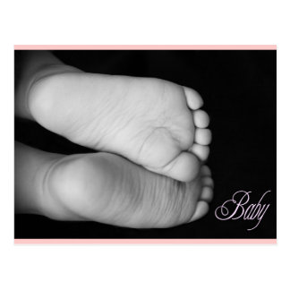 Cute Baby Feet Pink Baby Post Cards
