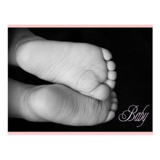 Cute Baby Feet Pink Baby Postcard