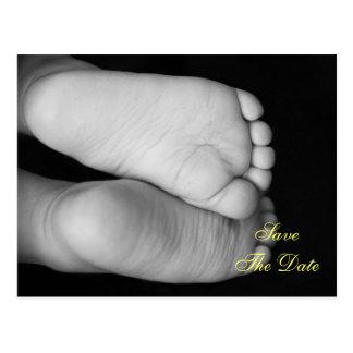 Cute Baby Feet Postcard