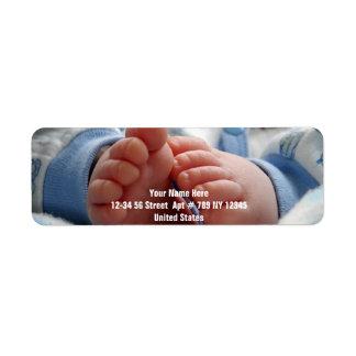 Cute Baby Feet Return Address Label