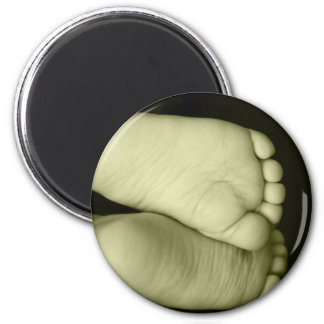 Cute Baby Feet  Unisex Yellow Baby Magnet
