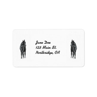 Cute Baby Foal Avery Label