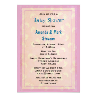 Cute baby Footprints Baby Shower Card