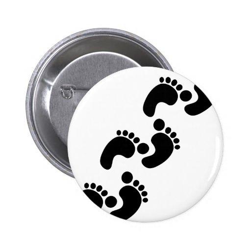 cute baby footprints pinback buttons