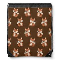 Cute Baby Fox Animal Print Pattern Drawstring Bag