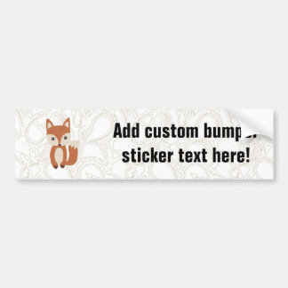 Cute Baby Fox Bumper Sticker