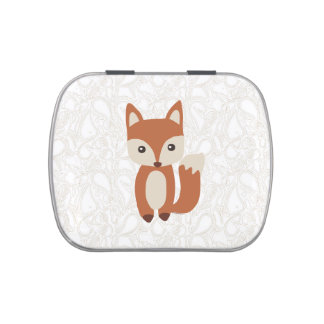 Cute Baby Fox Jelly Belly Tins