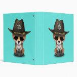 Cute Baby Fox Cub Sheriff 3 Ring Binder