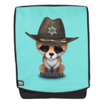 Cute Baby Fox Cub Sheriff Backpack