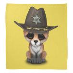 Cute Baby Fox Cub Sheriff Bandana