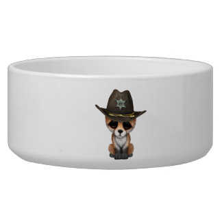 Cute Baby Fox Cub Sheriff Bowl