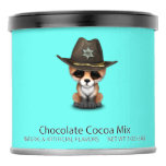 Cute Baby Fox Cub Sheriff Hot Chocolate Drink Mix