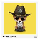 Cute Baby Fox Cub Sheriff Wall Sticker