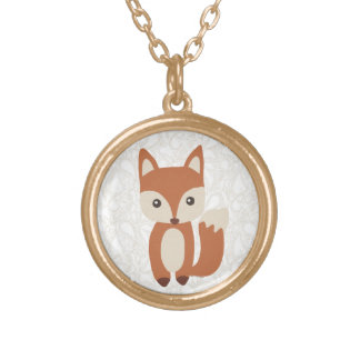 Cute Baby Fox Gold Plated Necklace
