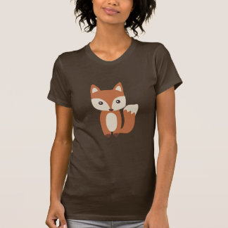 Cute Baby Fox Ladies T-shirts