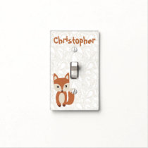 Cute Baby Fox Light Switch Cover