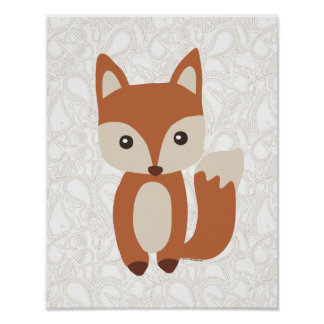 Cute Baby Fox Poster