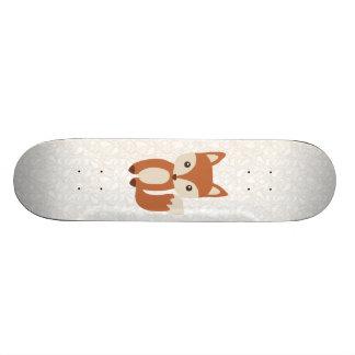 Cute Baby Fox Skateboard Deck