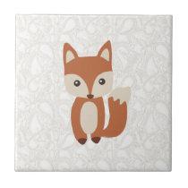 Cute Baby Fox Tile