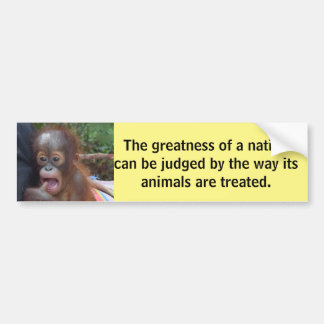 Cute Baby Gandhi Animal Quote Bumper Sticker