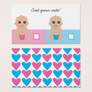Cute Baby Gender Reveal Party Ballot Vote Card