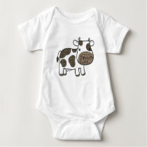 Cute Baby Gerber Cotton with cow Baby Bodysuit
