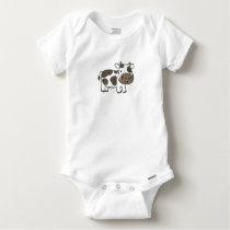 Cute Baby Gerber Cotton with cow Baby Onesie