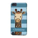 Cute Baby Giraffe, Add Child's Name iPod Touch 5G Covers