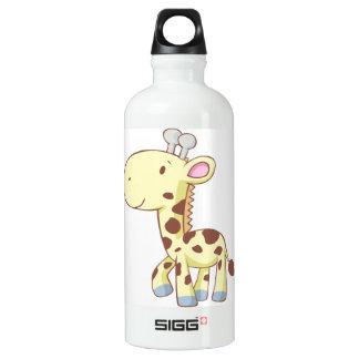Cute Baby Giraffe Cartoon Custom Aluminum Water Bottle