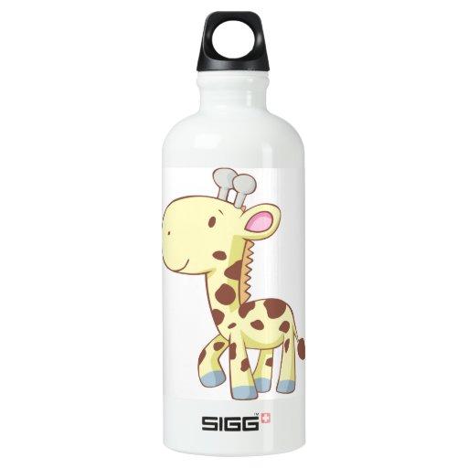Cute Baby Giraffe Cartoon Custom SIGG Traveler 0.6L Water Bottle
