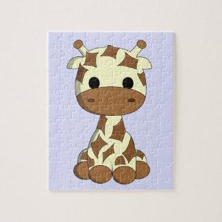 Cute baby giraffe cartoon kids jigsaw puzzle