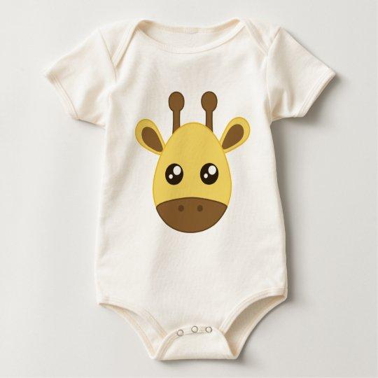 Cute Baby Giraffe Face Baby Bodysuit