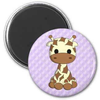 Cute baby giraffe kawaii cartoon magnet
