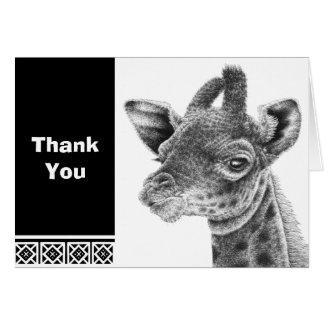 Cute Baby Giraffe Note Card