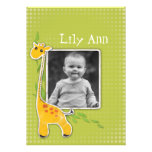 cute baby giraffe  Photo Gift Greeting Personalized Announcement
